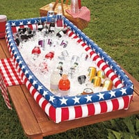 Patriotic Inflatable Buffet Cooler Keeps Food & Drinks Cold Picnics BBQ Parties