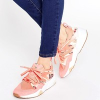 Puma X Careaux Blaze Of Glory Sneakers In Coral Rose Print at asos.com
