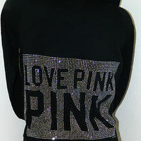 PINK by Victoria's Secret BLING HOODIE Size Small on eBay!