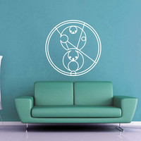 Bad Wolf - Circular Gallifreyan - Doctor Who Wall Decal