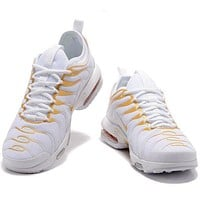 Nike Air Max Popular Women Men Leisure Sport Shoe Sneakers White Gold I