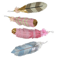 Painted Feather Ornament