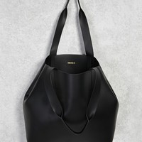 Oversized Faux Leather Tote