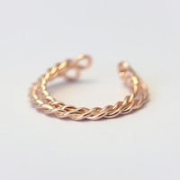 925 sterling silver rose gold  twist opening ring,little finger ring,fashion ring,a perfect gift
