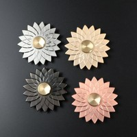 Fidget Spinner Toy high speed Zinc Alloy Lotus Flower Modelling Fidget Toy for Relieving ADHD Anxiety Boredom EDC Hand Spinner