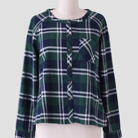 Back Country Plaid Button-Up In Green