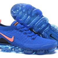 HCXX N336 Nike Air Vapormax Flyknit 2 Casual Running Shoes Dark Blue Pink
