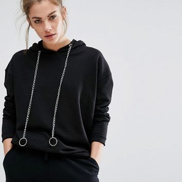 Daisy Streey Oversized Hoodie With Chain Details at asos.com