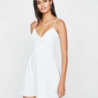 Knot Front Fit And Flare Mini Dress