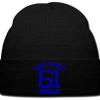 TOM FORD 61 MOLLY BLUE beanie knit hat
