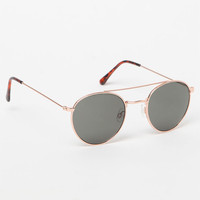 LA Hearts Round Top Bar Lennon Sunglasses at PacSun.com