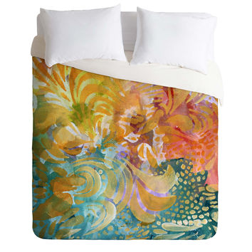 Madart Inc. Colorful Whimsy Background Duvet Cover