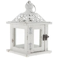 Small White Lantern with Punch Top | Hobby Lobby