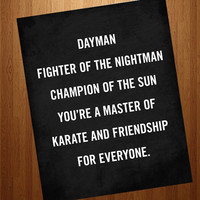 Dayman Lyrics Fighter of the Nightman 8x10 Art Print - It's Always Sunny in Philadelphia