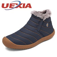 Winter Unisex Casual Snow Boots Lightweight Plush Ankle Boots For Men Lovers Outdoor Fashion Warm Shoes With Fur Botas Mujeres