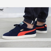 PUMA Pigeon Women Men Casual Running Sport Shoes Sneakers Navy blue