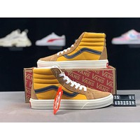 Vans Old Skool 2019 new street fashion high-top canvas skate shoes Khaki