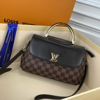 Kuyou Gb229916 Lv Louis Vuitton M53661 Damier Ebene Capucines Handbags Top Handles Black Flap Cover Bag 26x 17x10cm