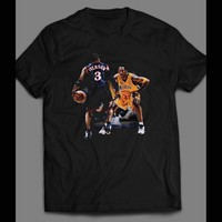 BASKETBALL VIDEO GAME LEGENDS, ALLEN IVERSON VS KOBE BRYANT VINTAGE T-SHIRT