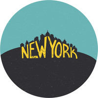 New York Circle Wall Decal