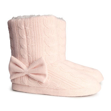Knit Slippers - from H&M