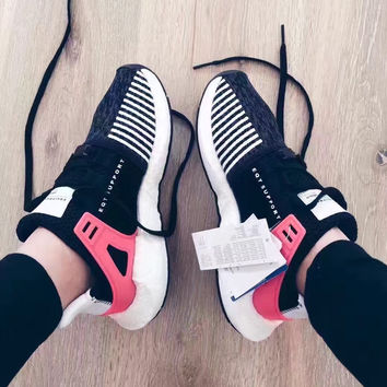 "Fashion ""Adidas"" Equipment EQT Support ADV Black/Pink Casual Sports Shoes"