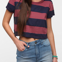 Urban Outfitters - Truly Madly Deeply Bold Stripe Cropped Tee