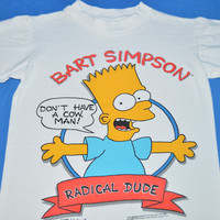 80s Bart Simpson Radical Dude t-shirt Youth Small
