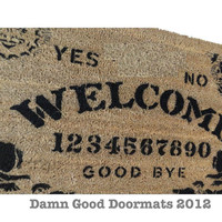 Ouija style board doormat Mystical spooky spirit contact