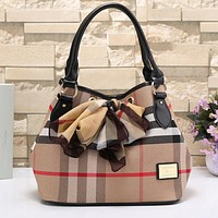 Burberry Women Fashion Shopping Leather Shoulder Bag Satchel Crossbody