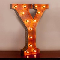 """24"""" Letter Y Lighted Vintage Marquee Letters with Screw-on Sockets"""