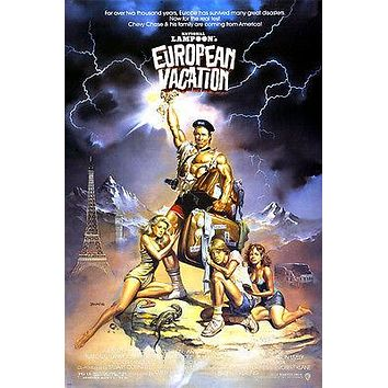 national lampoon's EUROPEAN VACATION movie poster CHEVY CHASE comedy 24X36