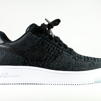 Nike Women's Air Force 1 Low Ultra Flyknit Black White