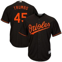 Men's Baltimore Orioles Mark Trumbo Majestic Alternate Black Official Cool Base Replica Player Jersey