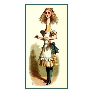 Curiouser & Curiouser Alice in Wonderland Tenniel Counted Cross Stitch Pattern