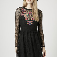 Lace Embroidered Flippy Dress - New In This Week - New In