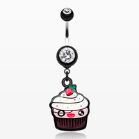 zzz-Betty Cupcake Belly Button Ring