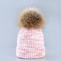Women Pom Pom Beanies Autumn And Winter Female Hats Fur  Pompom Ball Cap Women Girls Hat Knitted Beanies Cap Thick Female Cap