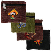Hemp Assorted Applique Coin Purse on Sale for $5.99 at HippieShop.com