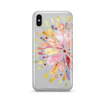 Blissful Mandala - Clear TPU Case Cover