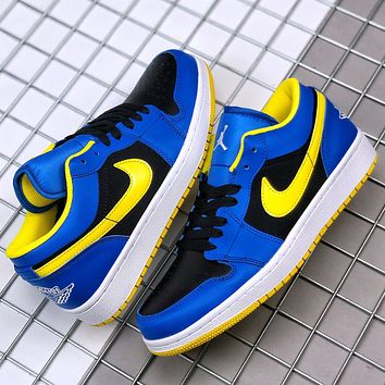 NIKE Air jordan 1 SB dunk low-top stitching color men's and women's basketball sneakers Shoes