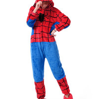 Unisex Spider Man Plush Animal Fleece Onesuits Pajamas Costume