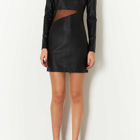 Jezzebell PU and Mesh Dress - New In This Week - New In - Topshop USA