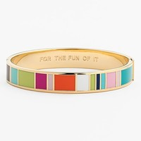 kate spade new york 'for the fun of it' hinge idiom bracelet