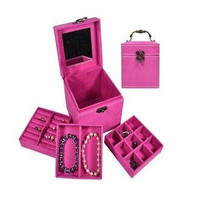 Jewelry Box Storage Organizer Ring Earring Necklace Holder Display Case Mirror