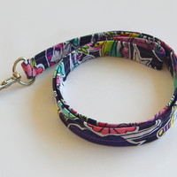 Tattoo Print Lanyard / Flower Tattoos / Tattoo Keychain / Swallow Tattoo / Key Lanyard / ID Badge Holder / Fabric Lanyard / Stars