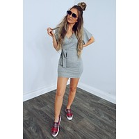 Find Me Here Dress: Grey