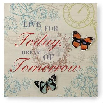 Live and Dream Metal 3D Butterfly Wall Art