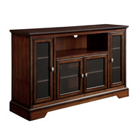 """52"""" Highboy Style Wood TV Stand - Rustic Brown"""