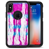 Running Blue and Pink WaterColor Paint - iPhone X OtterBox Case & Skin Kits
